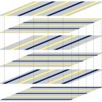'Stripe' (Streifen) Schichten Anordnung