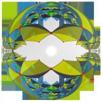 Struktur eines Hochtemperatursupraleiters abgebildet auf einer 'Atom'-Kugel