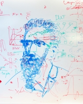 Whiteboard Art: W.C. Röntgen (?)